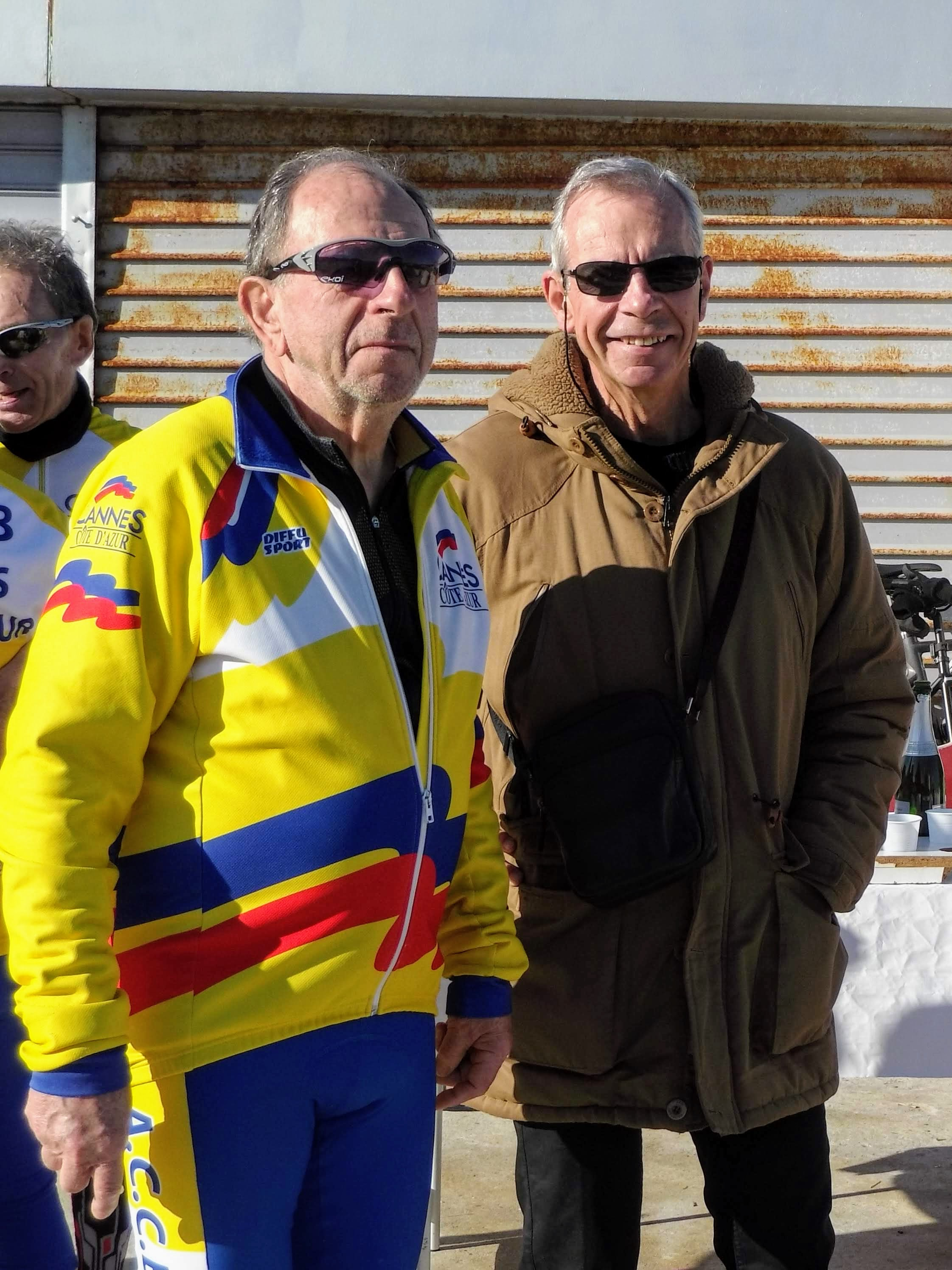 Notre Président et Claude notre nouvelle recrue